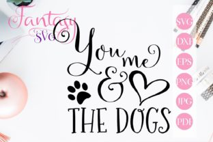 You, Me and the Dogs Svg Graphic By Fantasy SVG