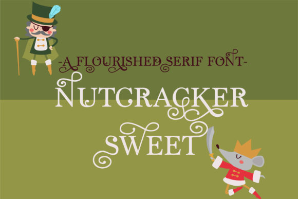 Print on Demand: ZP Nutcracker Sweet Serif Font By Illustration Ink