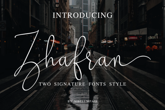 Print on Demand: Zhafran Script & Handwritten Font By Sibelumpagi Studio