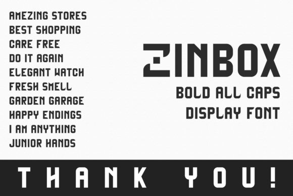 Print on Demand: Zinbox Display Font By Dasagani