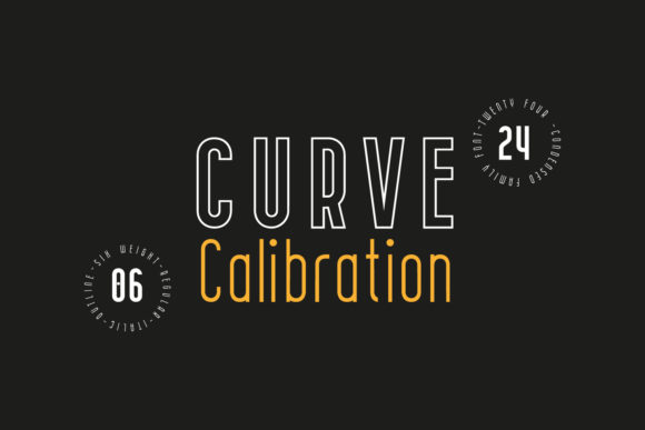 Print on Demand: Curve Calibration Family Sans Serif Font By 38.lineart