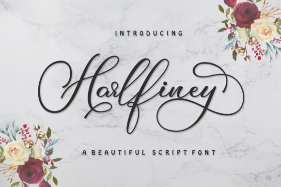 Print on Demand: Harlfiney Script & Handwritten Font By IM Studio