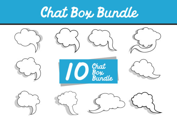 Print on Demand: 10 Cloud Chat Box Vector Bundle Graphic Icons By Arief Sapta Adjie - Image 1