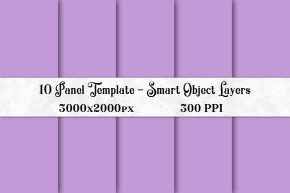 Print on Demand: 10 Panel Template with Smart Object Layers Graphic Presentation Templates By SapphireXDesigns