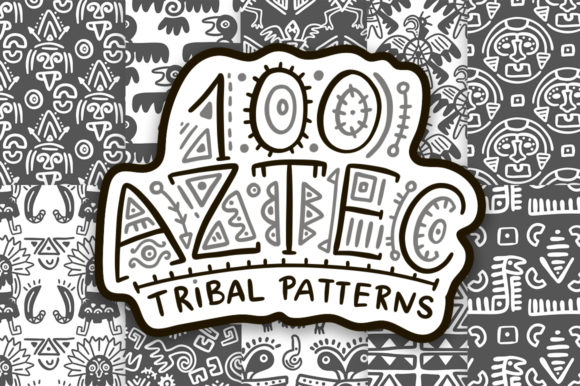 Print on Demand: 100 Aztec Seamless Patterns Graphic Patterns By Red Ink