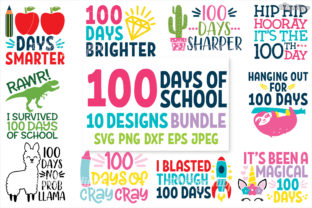 100 Days of School SVG Bundle Graphic By thedesignhippo