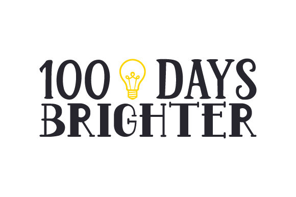 Download Free 100 Days Brighter Svg Cut File By Creative Fabrica Crafts for Cricut Explore, Silhouette and other cutting machines.