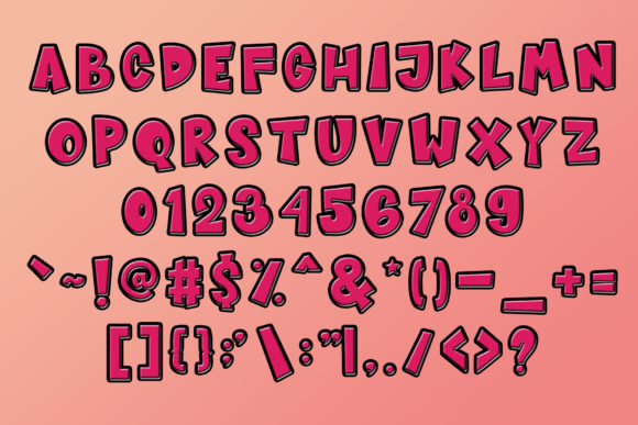 Print on Demand: Sugar Bomb Sans Serif Font By Sharon ( DMStd ) - Image 11