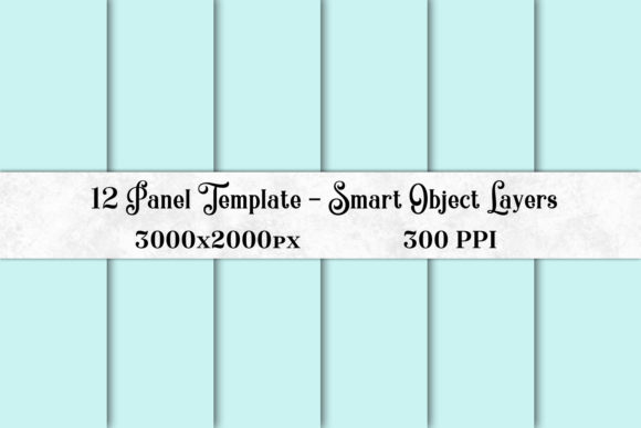 Print on Demand: 12 Panel Template with Smart Object Layers Graphic Presentation Templates By SapphireXDesigns - Image 1
