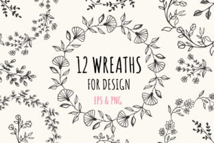 12 Wreaths EPS & PNG Graphic By anatartan