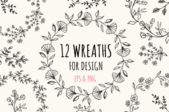 12 Wreaths   Graphic Illustrations By anatartan - Image 1