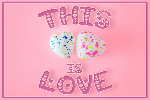 Print on Demand: This is Love Display Font By Anastasia Feya