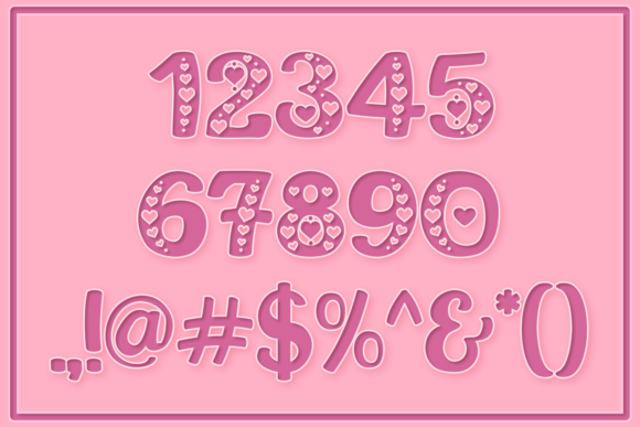 Print on Demand: This is Love Display Font By Anastasia Feya - Image 3