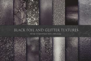 Black Foil and Glitter Textures Graphic By artisssticcc