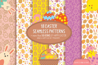 18 Easter Seamless Patterns & Icons Graphic By luluimanda82