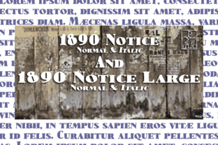 1890 Notice Font By GLC Foundry