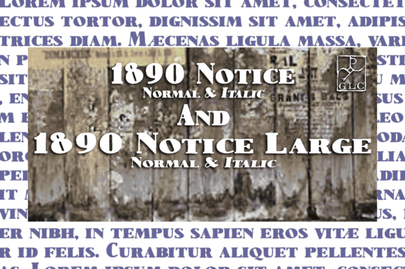 Print on Demand: 1890 Notice Serif Font By GLC Foundry - Image 1