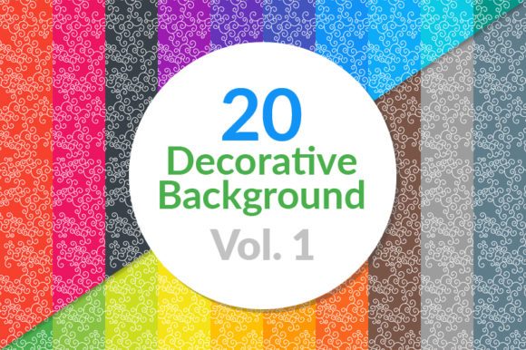 Download Free 20 Decorative Background Graphic By Seemly Designs Creative for Cricut Explore, Silhouette and other cutting machines.