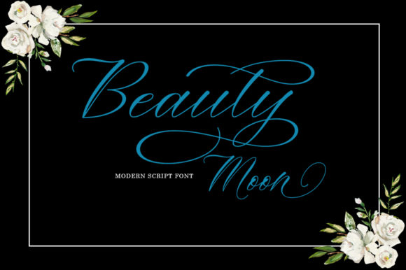 Print on Demand: Beauty Moon Script Script & Handwritten Font By Zane Studio