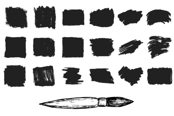 Download Free 78 Hand Drawn Paint Brushes Graphic By Kirill S Workshop for Cricut Explore, Silhouette and other cutting machines.