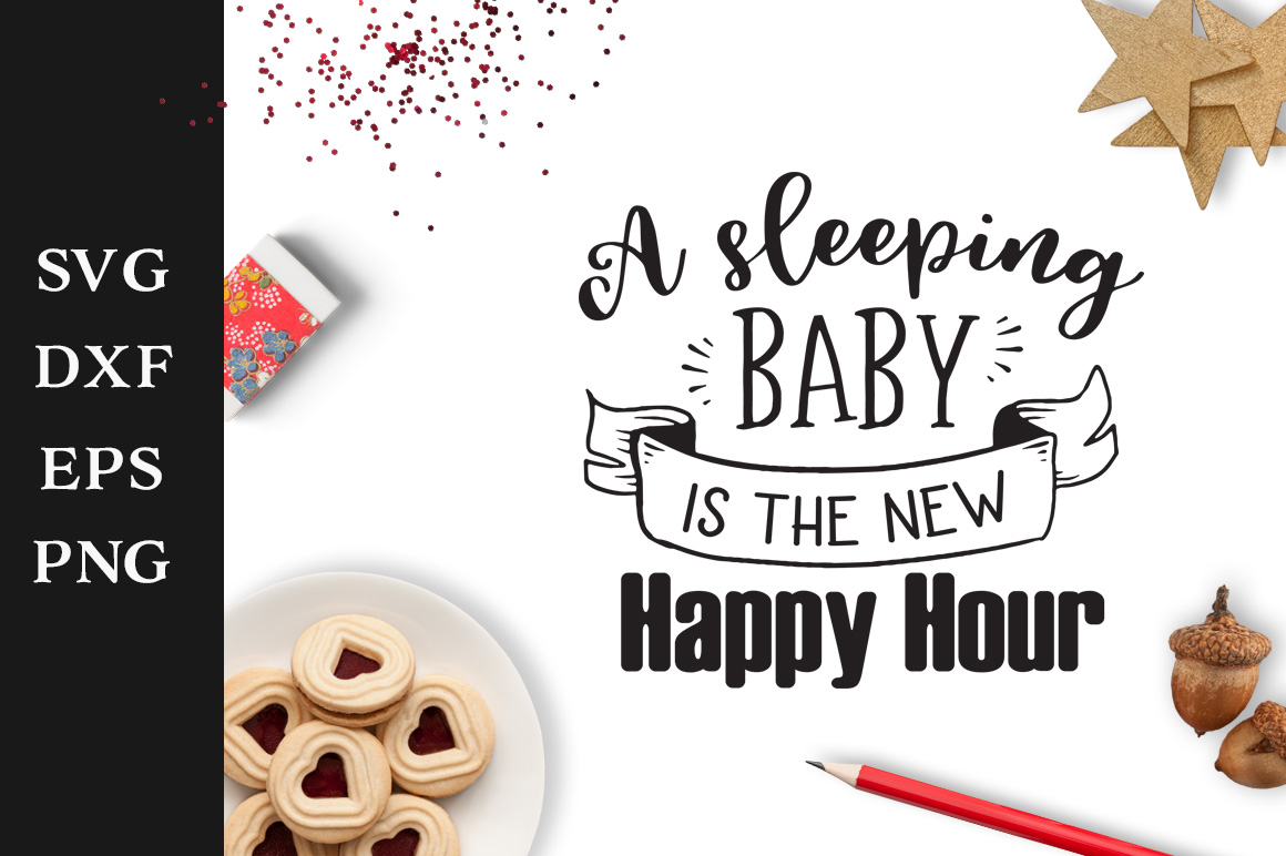 Download Free A Sleeping Baby Svg Graphic By Nerd Mama Cut Files Creative for Cricut Explore, Silhouette and other cutting machines.