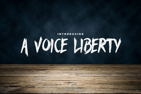Print on Demand: A Voice Liberty Blackletter Font By Docallisme