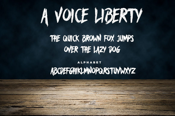 Print on Demand: A Voice Liberty Blackletter Font By Docallisme  - Image 2