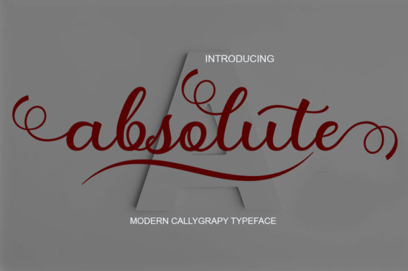 Print on Demand: Absolute Script & Handwritten Font By saidi studio