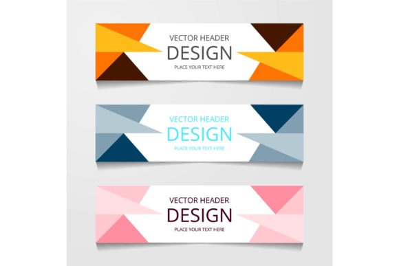 Print on Demand: Abstract Designs Web Banner Graphic Graphic Templates By ojosujono96