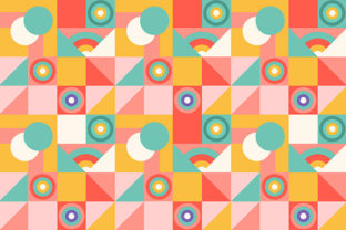 Print on Demand: Abstract Geometric Colorful Pattern Graphic Patterns By Kotak Kuning Studio