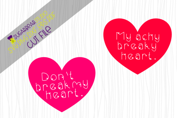 Achy Breaky Heart SVG Graphic Crafts By SugarBearStudio