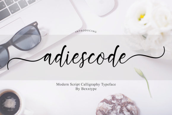 Adiescode Script Font By Bexx Type Image 1