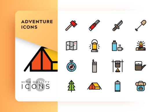 Adventure Icon Pack Graphic Free Download