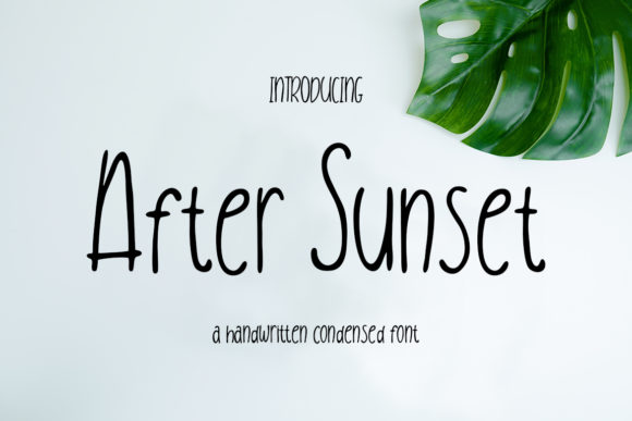 Print on Demand: After Sunset Script & Handwritten Font By CreatypeStudio
