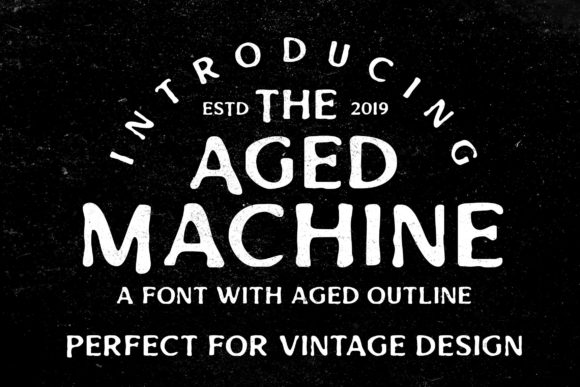 Print on Demand: Aged Machine Display Font By Lettersiro Co.