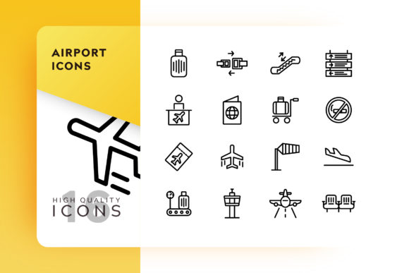 Print on Demand: Airport Icon Pack Graphic Icons By Goodware.Std - Image 1
