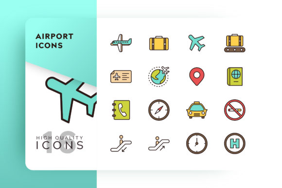 Airport Icon Pack Graphic By Goodware.Std
