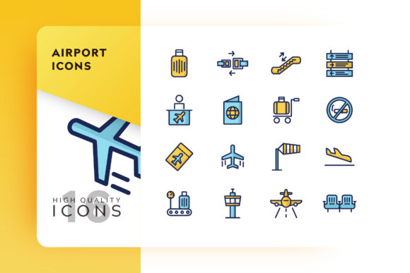Airport Icon Pack Graphic Free Download