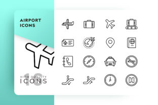 Airport Icons Pack Graphic By Goodware.Std