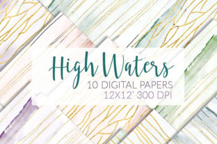 Download Free Airy Watercolor Papers Marble Gold Graphic By Ramandu Creative for Cricut Explore, Silhouette and other cutting machines.