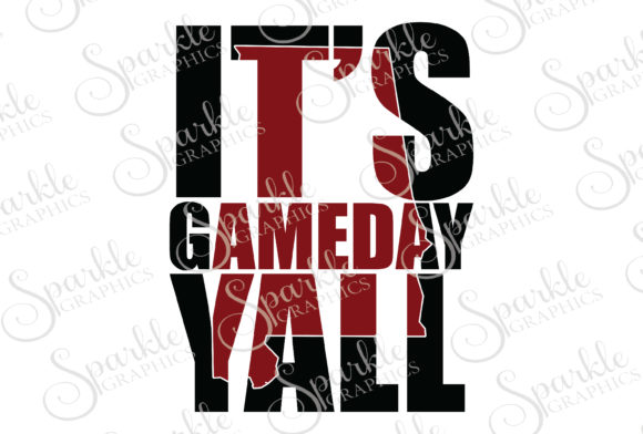 Download Free Alabama Game Day Cut File Graphic By Sparkle Graphics Creative for Cricut Explore, Silhouette and other cutting machines.
