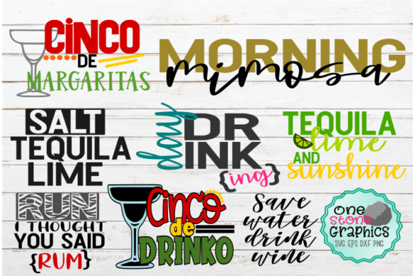 Alcohol Svg Bundle Graphic Crafts By OneStoneGraphics