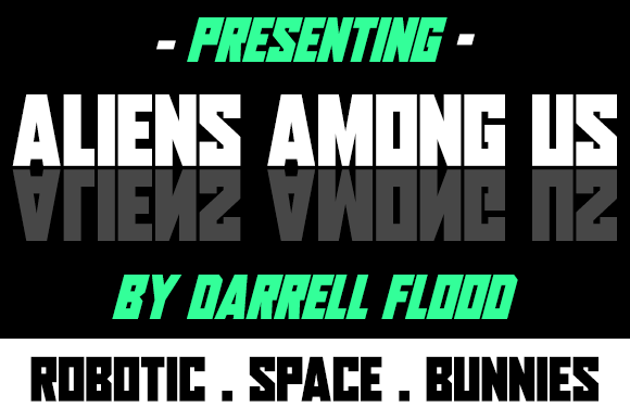 Print on Demand: Aliens Among Us Display Font By Dadiomouse