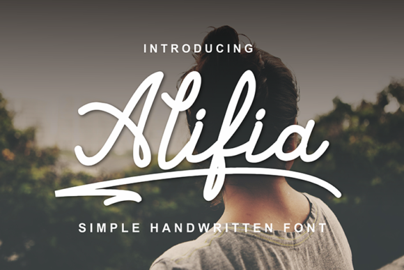 Print on Demand: Alifia Script & Handwritten Font By figuree studio