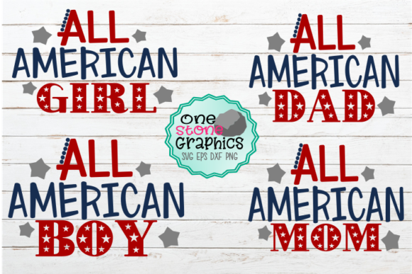 All American Bundle  Graphic Crafts By OneStoneGraphics