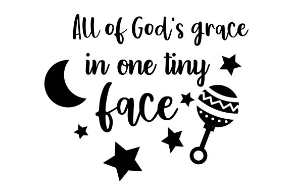 Download Free All Of God S Grace In One Tiny Face Archivos De Corte Svg Por for Cricut Explore, Silhouette and other cutting machines.