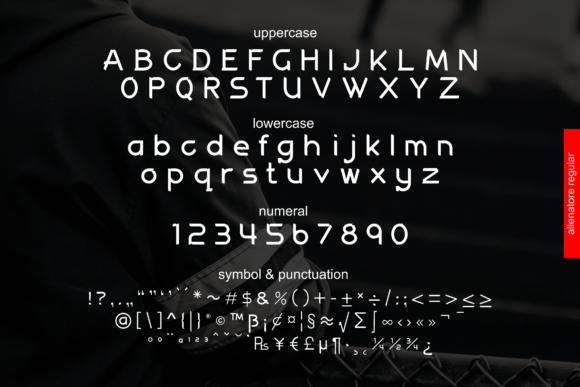 Print on Demand: Allenatore Family Display Font By Abodaniel - Image 2