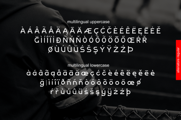 Print on Demand: Allenatore Family Display Font By Abodaniel - Image 3