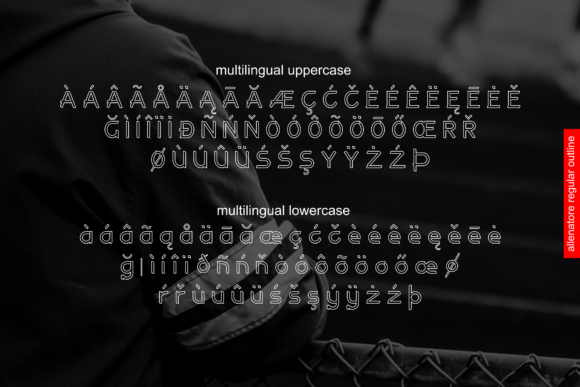 Print on Demand: Allenatore Family Display Font By Abodaniel - Image 5