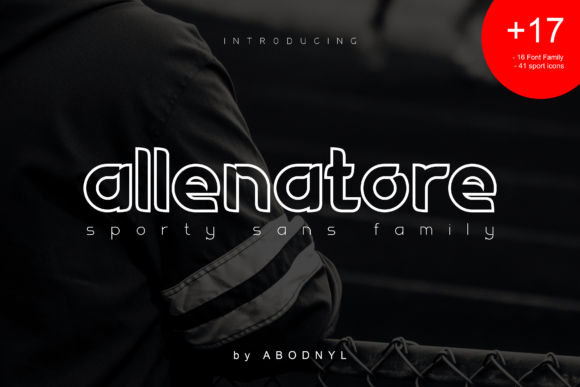 Print on Demand: Allenatore Family Display Font By Abodaniel - Image 1